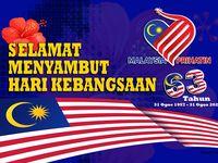 57 Tahun Malaysia Merdeka Malaysia Asia Map Stripes Pattern