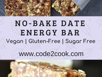 No Bake Date Energy Bar Healthy Vegan And Gluten Free Recipe