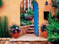 Front door color ideas - blues and teals