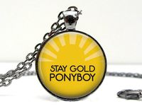 20 Best Stay Gold Ponyboy Ideas Stay Gold Ponyboy Stay Gold Gold Solid brass with 14 kt gold plated stay gold necklace inspired by the outsiders by s.e. 20 best stay gold ponyboy ideas stay