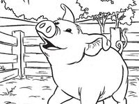 wilbur pig coloring pages | 17 Best images about Coloring Pages (Charlotte's Web) on ...