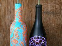 pintura garrafas