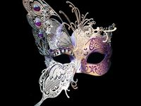Masks to wear or for decoration.