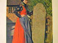 Authentic folk dress / Details of dress fromDenmark, Norway, Slovenia etc.