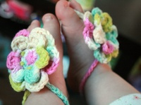 I love to crochet barefoot sandals