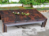 wood and steel tables