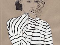 beautiful and inspiring illustration techniques - mainly fashion.
