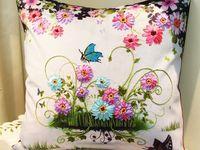 almohadas , camino mesa , blancos . etc / bordado , apliques ,