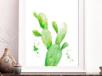 Cactus and succulent watercolors