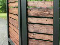 Pool shed / propane / gravel walkway