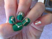 Baseball nail designs
