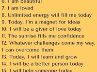 Affirmations/Life Changing