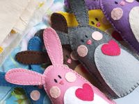 felt  easter bunny and carrot