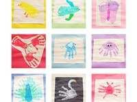 Handprint/Footprint Art Book