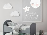 Nursery / Watercolor art and poster for nursery decor.