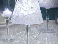 Wine glass/bottle centerpieces