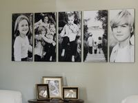 Picture Display Ideas, Portrait display, Photo Collages, Photo Wall Display