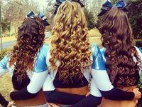 CHEER HAIR AND BOWS! ♥♥