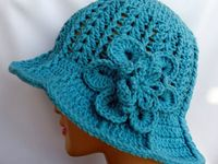crocheted adult hats and gloves