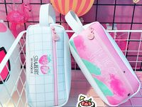 SXXDBD Simple Creative Hot Air Balloon Pencil Case Large Capacity Leather Zipper Cute Student Pen Bag Sweet Stationery School Supplies