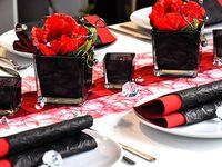 1000 bilder zu tischdeko rot auf pinterest hochzeit for Tischdeko rot schwarz