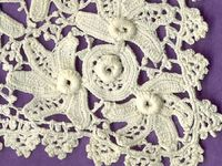 Traditional Irish crochet and modern Russian style IC. Also Romanian Point Lace.