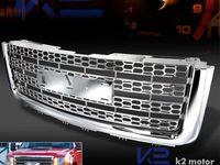Details About For 2007 2012 Gmc Sierra 1500 Light Duty 1pc Front Honeycomb Mesh Grille Chrome Gmc Trucks Gmc Sierra Gmc