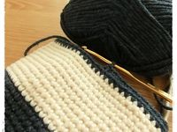 アクリル糸編み