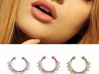 Nose Jewelry SF35S Clip On Septum Fake Piercing Clip On Piercing Faux Septum Ring Septum Cuff Fake Septum Ring Septum Jewelry