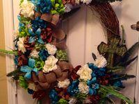 Summer Spring Wreaths Flowers Rhinestones Pics Burlap Bows Grapevine Wreaths