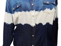 About dress barn cowgirl tie dye rockabilly country western denim
