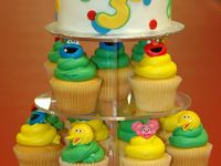 sesame street cakes and
