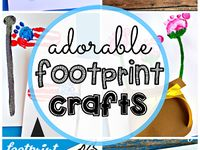 kid hand and footprints