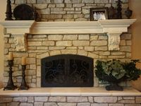 1000 images about tuscan or french country fireplace on for French country stone fireplace