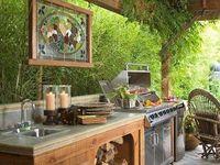 outdoor kitchen - ogrodowa kuchnia