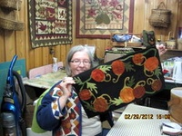 Wool, the best thing to applique with! So fun, easy, and enjoyable. Give it a try if you haven't!