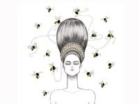 Beehive hairdo Clip Art EPS Images. 10 beehive hairdo ...   Beehive Hairstyle Drawing