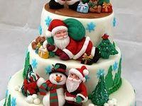 All kinds of Christmas cakes