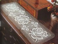 Crochê/caminho mesa
