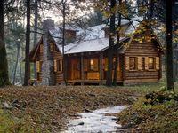 For Sandy's Log Cabin