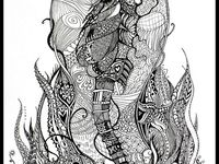 Art projects, zentangle animals