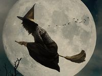 Vintage Witch Photographs & Illustrations ~ Halloween