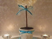 Diy centerpieces on pinterest fish bowl centerpieces for Dollar tree fish bowls