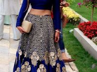 #lehenga Inspirations#simple*heavy!!# / #Pretty is an accident of nature. But being elegant is a self-created work of art..!!