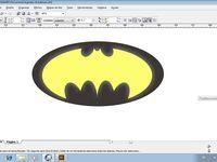 tareas patronaje / batman logotipo