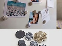 6 Pc Set Designs Inspired by Chicago Concrete Canvas Street Art Message Board Fridge Magnets Cubicle Perfect for Kitchen Glass Magnets