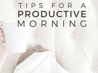 Productivity Tips / Looking for ways to create a purposeful life through goal setting, creating routines, and building good habits.