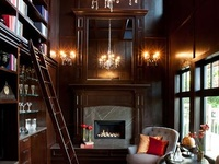 home libraries & living spaces