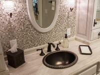 41 best images about tile work behind bathroom mirror on