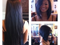 hairstyles ~ long inverted bob.